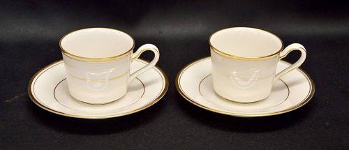 Showa Vintage 1980s Premium Noritake Ivory China LINTON Demitasse Cup & Saucer 2 Customer Group Estate Sale! KKK