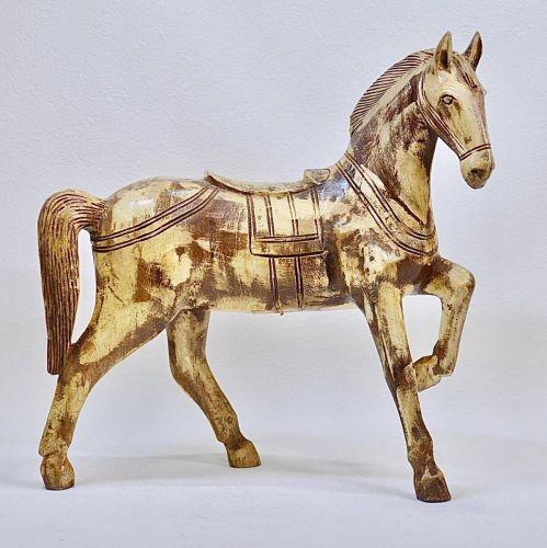 昭和ビンテージタイ製木製馬の置物インテリアオブジェmadeinThailandエステートセール!THY