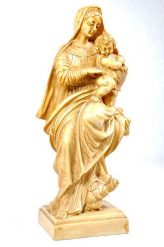 イタリアビンテージBianchi製幼子キリストを抱くマリア像オブジェ直径9cm×高さ21cmエステートセールYAY