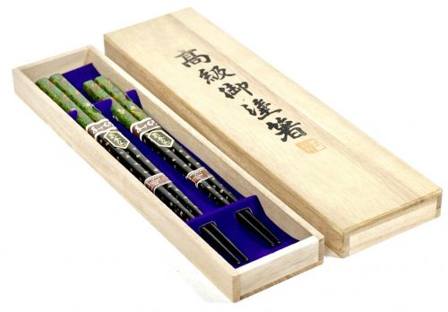 Showa Vintage Wakasa Nuri Luxury Omuri Chopsticks Couple Chopsticks 2 Set Assortment Motoki Lacquer Raden Co-box Unused Dead Stock Product Estate Sale HKT